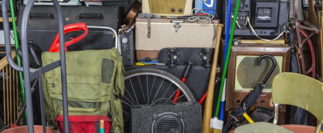The trend is getting rid of clutter in the garages and basements of older people